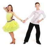 舞厅男孩舞蹈舞女 库存图片
