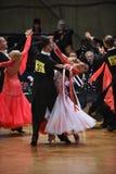 舞厅舞在竞争的夫妇跳舞 免版税库存图片