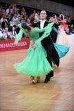 舞厅舞夫妇,跳舞在竞争 免版税库存图片