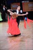 舞厅舞夫妇,跳舞在竞争 免版税图库摄影