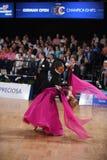 舞厅舞夫妇,跳舞在竞争 图库摄影