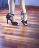舞厅舞拉丁舞蹈家 免版税库存图片