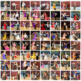 舞厅舞蹈演员 图库摄影