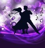 舞厅舞蹈演员 向量例证