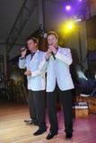 舞台上的演员双胞胎亚历山大和尤金Anufriev 库存图片