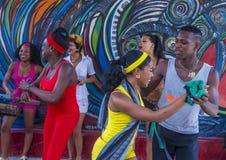 仑巴舞在哈瓦那古巴 免版税库存图片