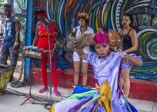 仑巴舞在哈瓦那古巴 免版税图库摄影