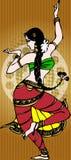 舞女印地安人 库存照片