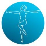 舞蹈体操工作室 向量例证