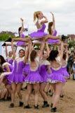 舞蹈体育队女孩 免版税库存照片