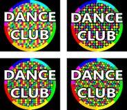 舞蹈俱乐部商标概念 免版税库存照片