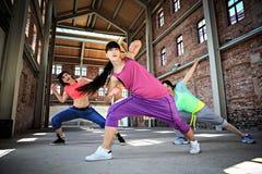 舞蹈健身查出的白色 免版税库存图片