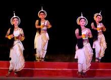 舞蹈印度odissi执行的马戏团 库存照片