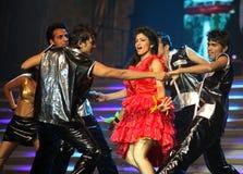 舞蹈印第安音乐显示 免版税图库摄影