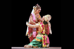 舞蹈印第安nrityotsav rabindra 免版税库存照片