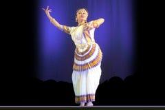 舞蹈印第安nrityotsav rabindra 库存图片