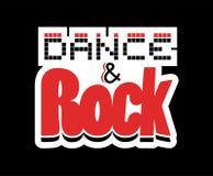 舞蹈和岩石标志 向量例证