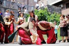 舞蹈在亚美尼亚 免版税图库摄影