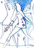 舞蹈城市颜色 免版税库存图片