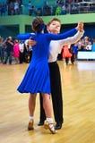 舞蹈夫妇在执行 免版税库存图片
