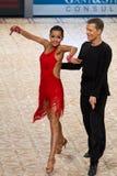 舞蹈夫妇: Dmitry Pugachev -阿纳斯塔西娅Balaeva 图库摄影