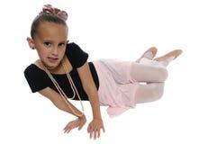 舞蹈女孩白色 免版税库存照片