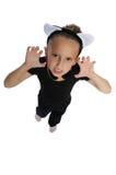舞蹈女孩白色 免版税图库摄影