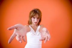 舞蹈女孩邀请到年轻人 免版税库存图片