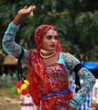 舞蹈女性rajasthani 库存图片