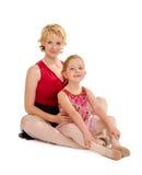 舞蹈妈妈和微小的小孩舞蹈家 库存图片
