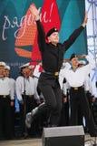 舞蹈家、歌曲合奏的合唱和独奏者黑海海军舰队(塞瓦斯托波尔,克里米亚的表现和舞蹈 库存图片