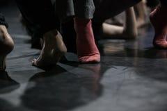 舞蹈家在果酱即兴创作 免版税库存图片