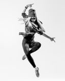 舞蹈家在演播室 库存照片
