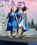 舞蹈家在以色列阶段 库存图片