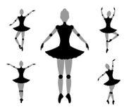 舞蹈家女孩标志 免版税库存照片