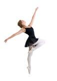 年轻舞蹈家女孩被隔绝 库存照片