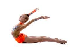 舞蹈家女孩训练 免版税库存照片