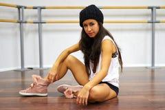舞蹈家女孩画象  免版税图库摄影