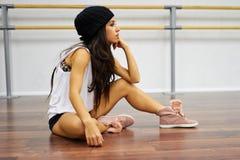 舞蹈家女孩画象  库存图片