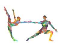 舞蹈家抽象剪影  免版税图库摄影