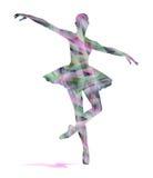舞蹈家抽象剪影  免版税库存照片