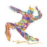 舞蹈家抽象剪影Hip Hop的 库存照片