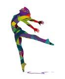 舞蹈家的抽象剪影 图库摄影