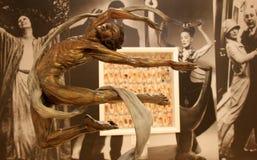 舞蹈家,在舞蹈画象墙壁国家博物馆,萨拉托加纽约前面的集合华美的雕塑, 2017年 免版税图库摄影