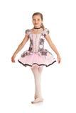 舞蹈家:在芭蕾服装打扮的女孩 库存图片