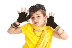 舞蹈家:Hip Hop舞蹈家做爵士乐手 库存图片