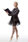 舞蹈家读书 免版税图库摄影