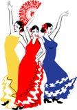 舞蹈家Sevillanas 免版税库存图片