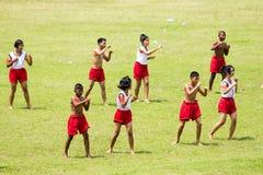 舞蹈展示在泰国 免版税图库摄影