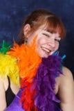 舞蹈微笑的学员 免版税库存照片